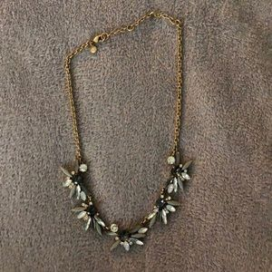 Like new J. Crew blue gray crystal necklace